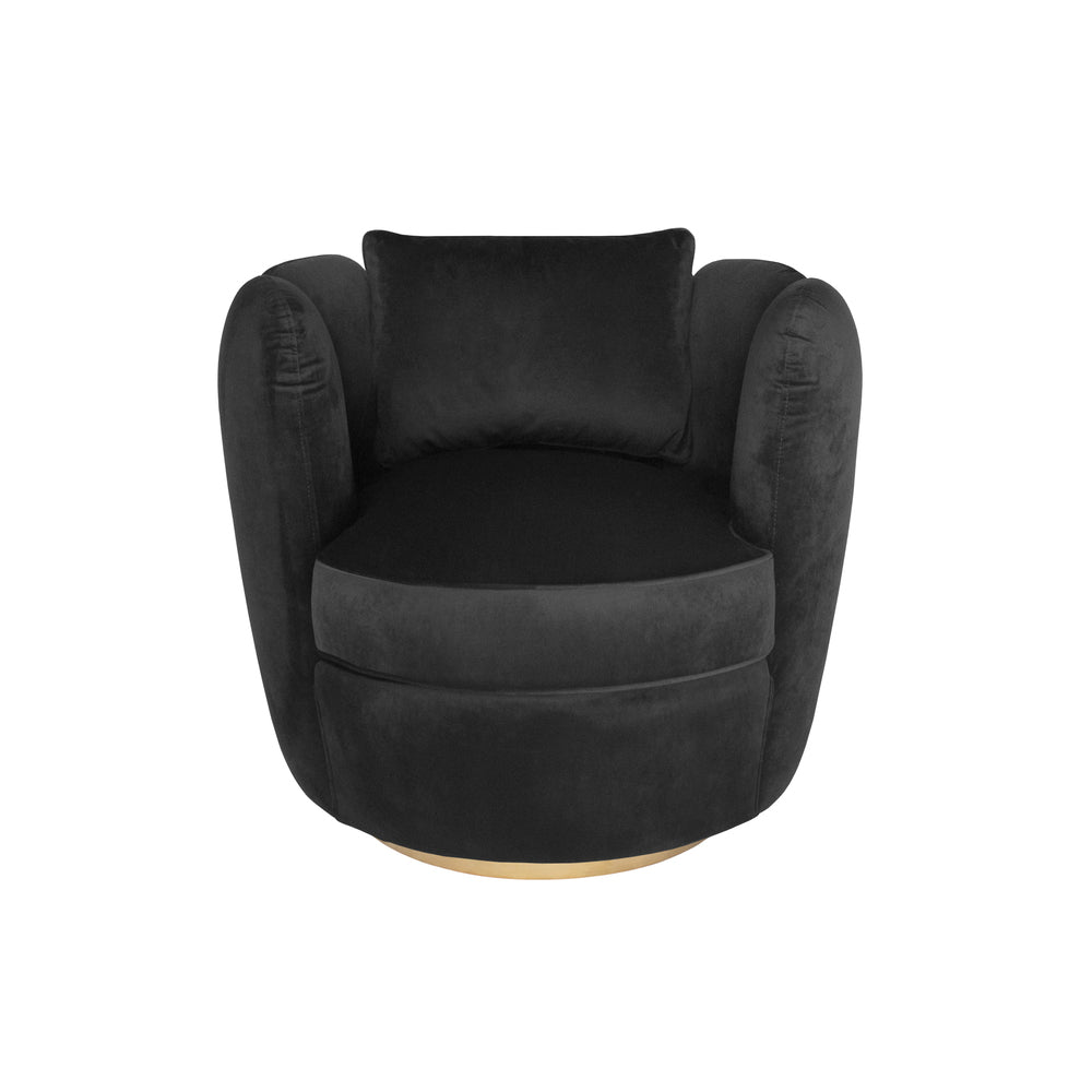 Zurich Swivel Chair Black