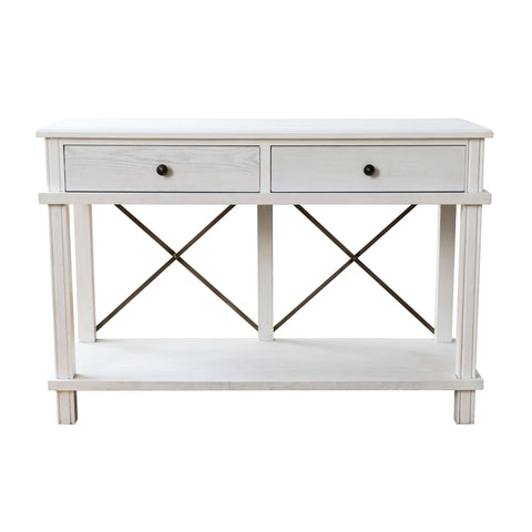Harvest 2 Drawer Console White