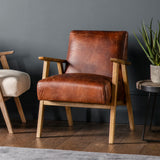 Nailsea Armchair Vintage Brown Leather