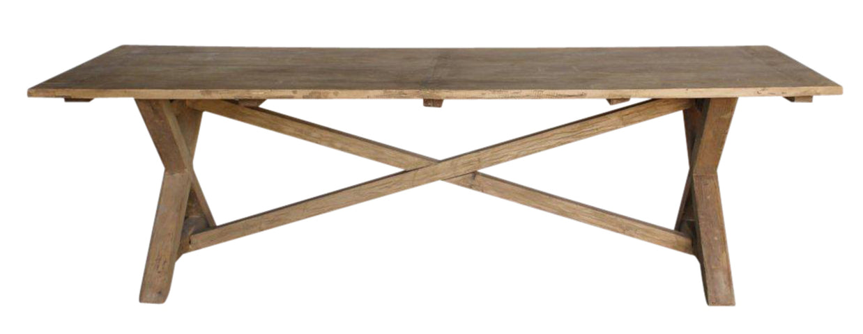 Mid Cross Elm Village Door Dining Table Various Sizes