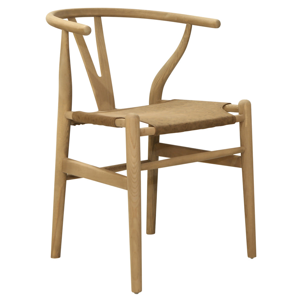 Wishbone Chair Dining Leather Look