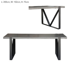 Rectangular Cement Dining Table