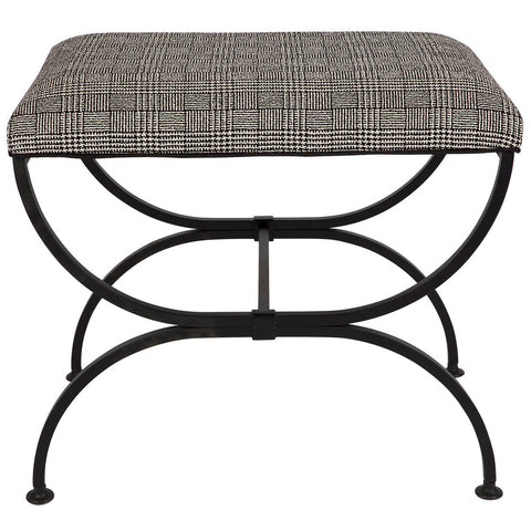 Brice Chaise Black Plaid