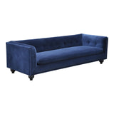 Mila 3 Seat Sofa Navy Velour