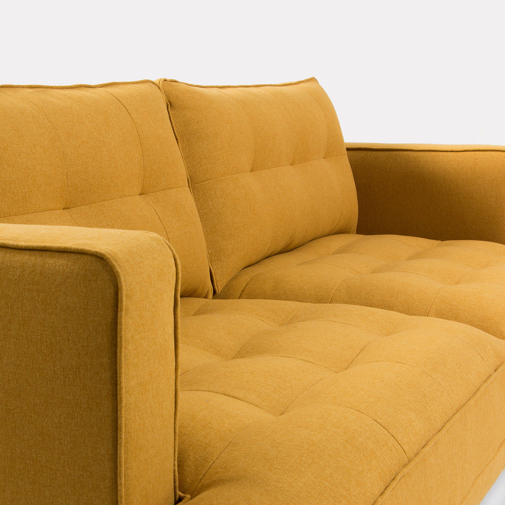 Vincent 3 Seater Sofa Mustard