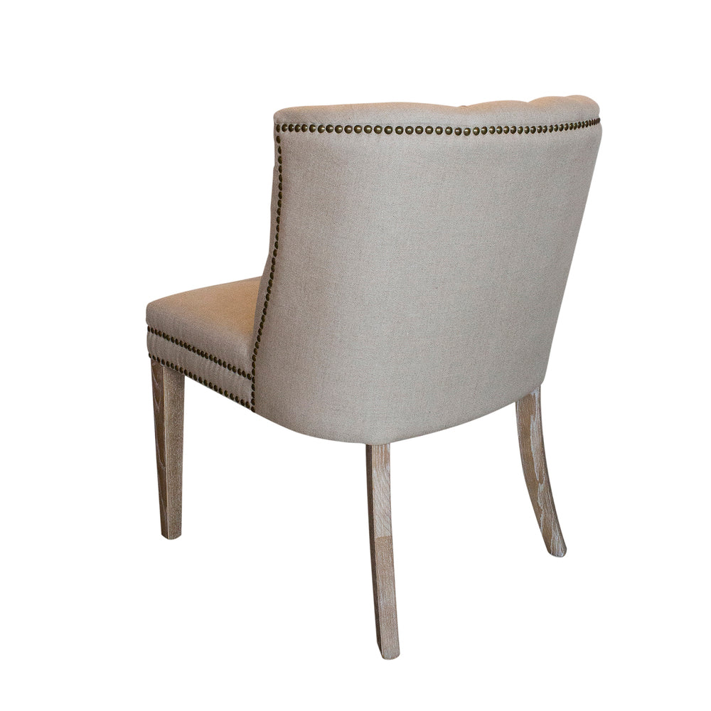 Dolce Natural Linen Dining Chair