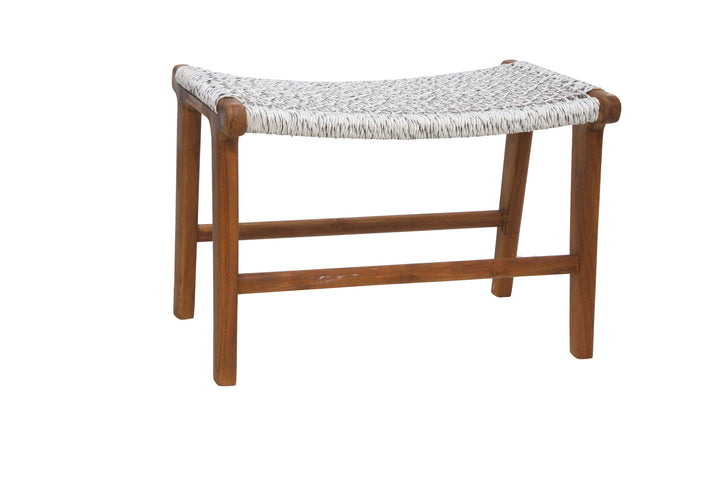 Quantum Footstool Natural and White