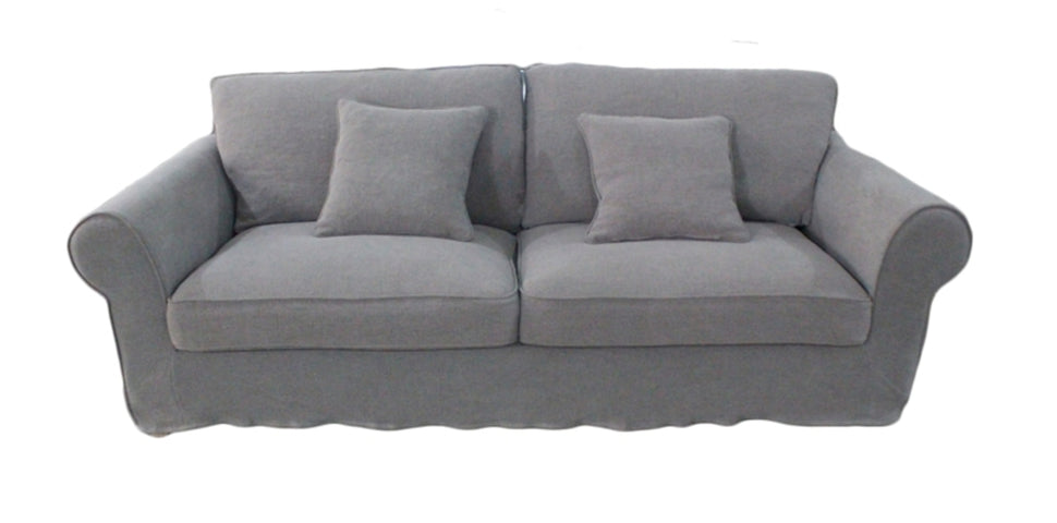 Louise 3 Seat Sofa Grey Linen
