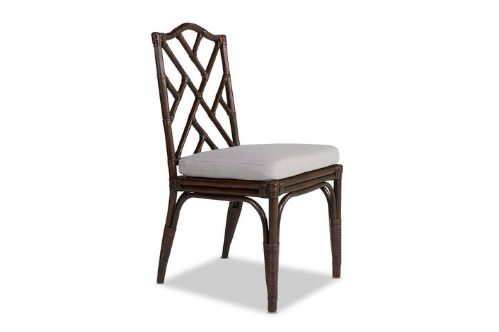 Chinois Rattan Dining Chair Coffee Bean