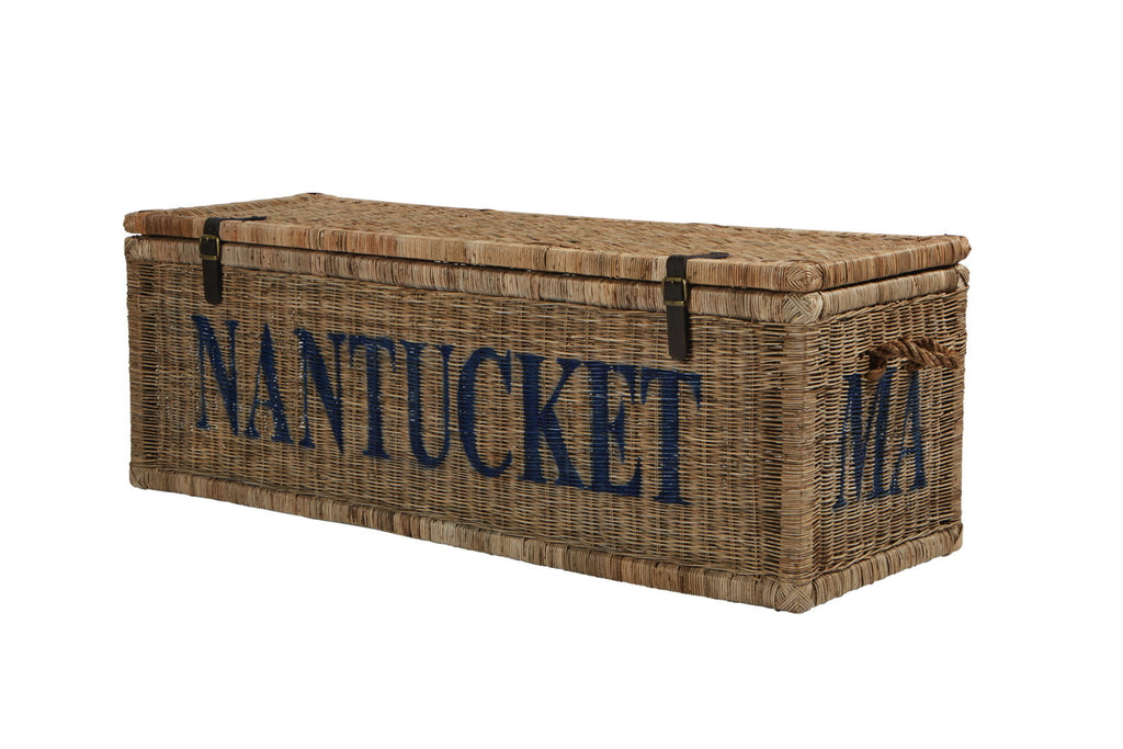 Vintage Rattan Nantucket Trunk