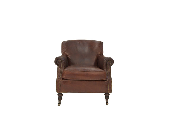 Vintage Leather Dreyfuss Arm Chair