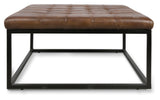 Manor Leather Ottoman/Coffee Table Tan