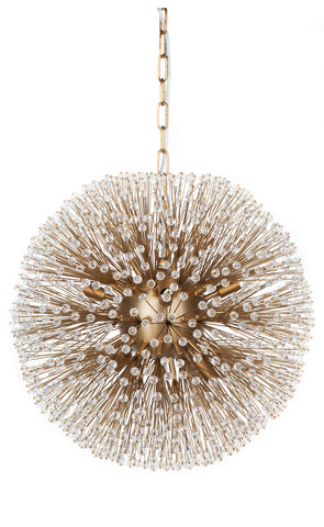 Beaded Chandelier Small Charcoal