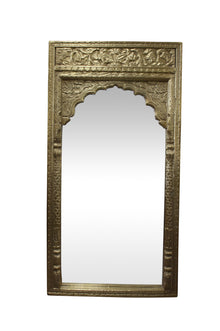 Exotic Brass Arch Indian Mirror