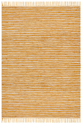 Bondi Leather and Jute Rug Yellow