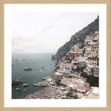 Positano Aerial Photographic Print with Frame