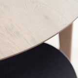 Fareham Round Dining Table Natural with Grey Wash