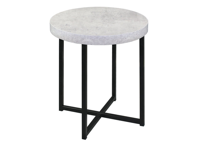 Harper Faux Concrete Side Table