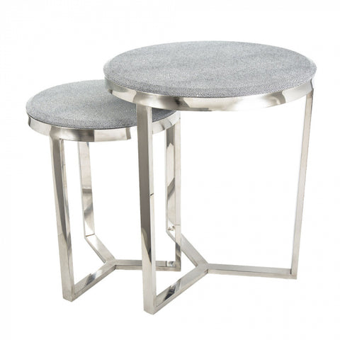 Alor Set/3 Shagreen Tables