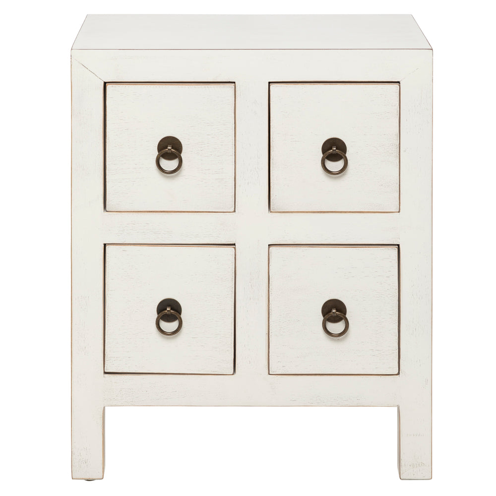Cody Bedside Chest White