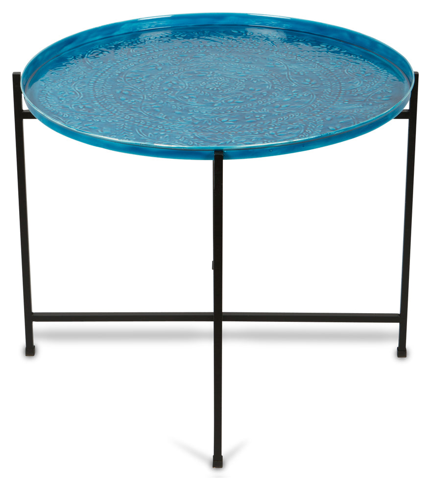 Blue Embossed Table