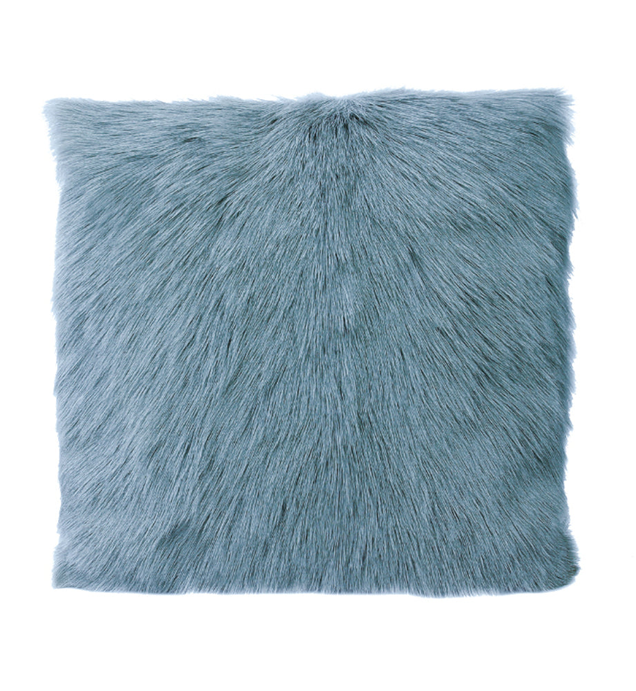 Goat Fur Cushion Smoke Blue