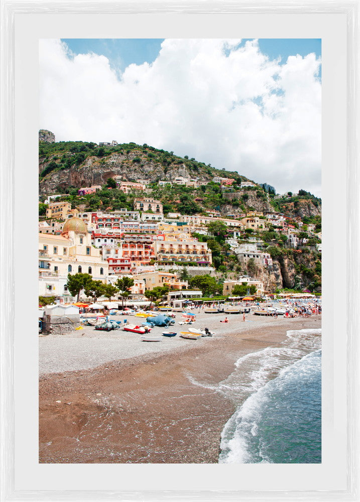 Positano Beach Photographic Print with Frame