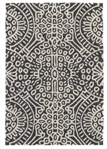 Scroll Platinum Woollen Rug