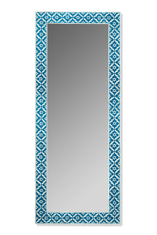 Harmonee Standing Mirror Blue and White