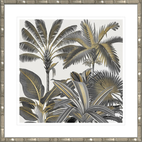 Golden Tropics Framed Print