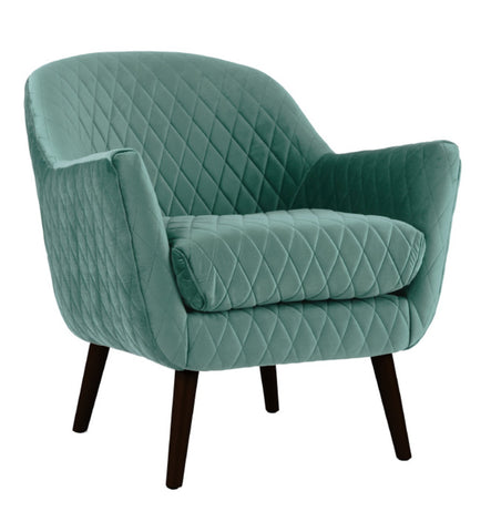 Club Chair Aqua with Black Legs