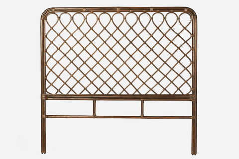 St Germain Rattan Bed Head King