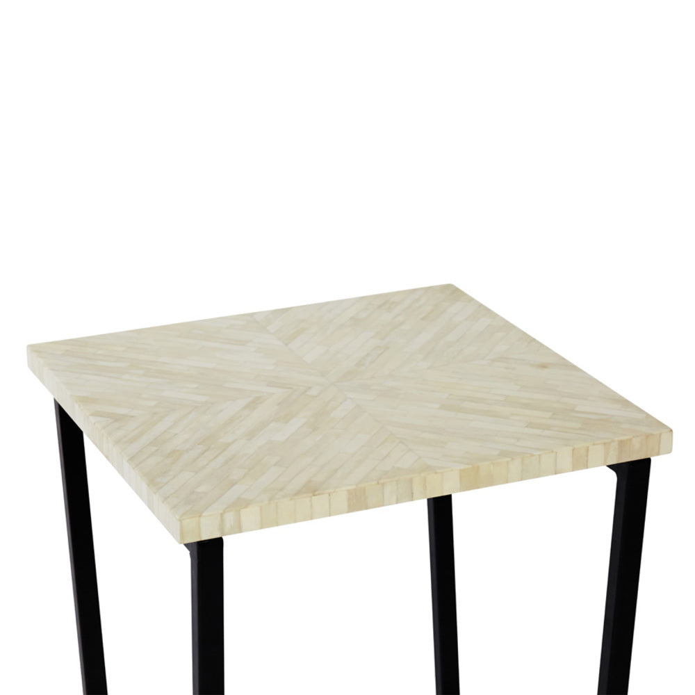 Alto Bone Inlay Side Table