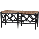 Trellis Bench Black