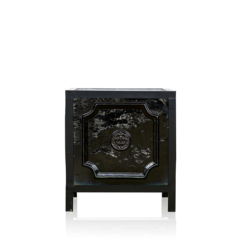 Garland French Style Urn Black
