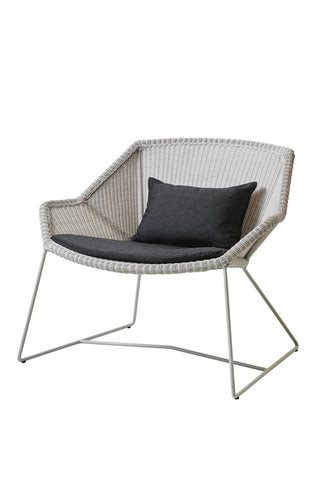 Breeze Lounge Chair White Grey with Cushion Options