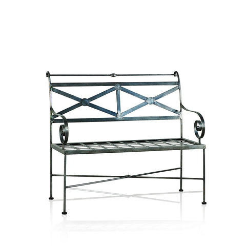 Napoli Wrought Iron 2 Seater Bench