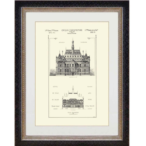 French Architectural Print 3