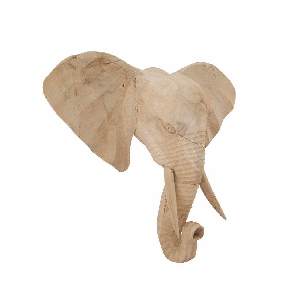 Elephant Wall Art Bleached Small