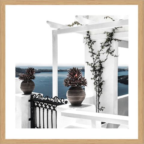 Santorini View Photographic Print with Frame