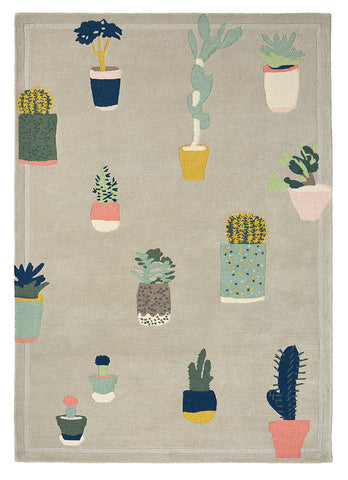 Ted Baker Cactus Rug Grey
