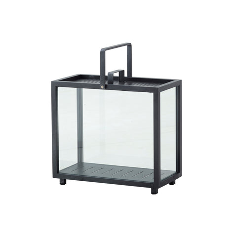 Lighthouse Lantern Indoor/Outdoor Rectangular Lava Grey