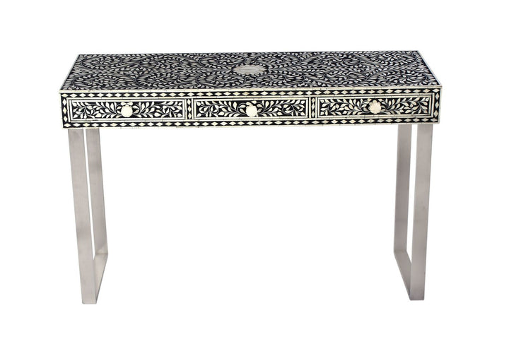 Chitrita Bone Inlay Console Black