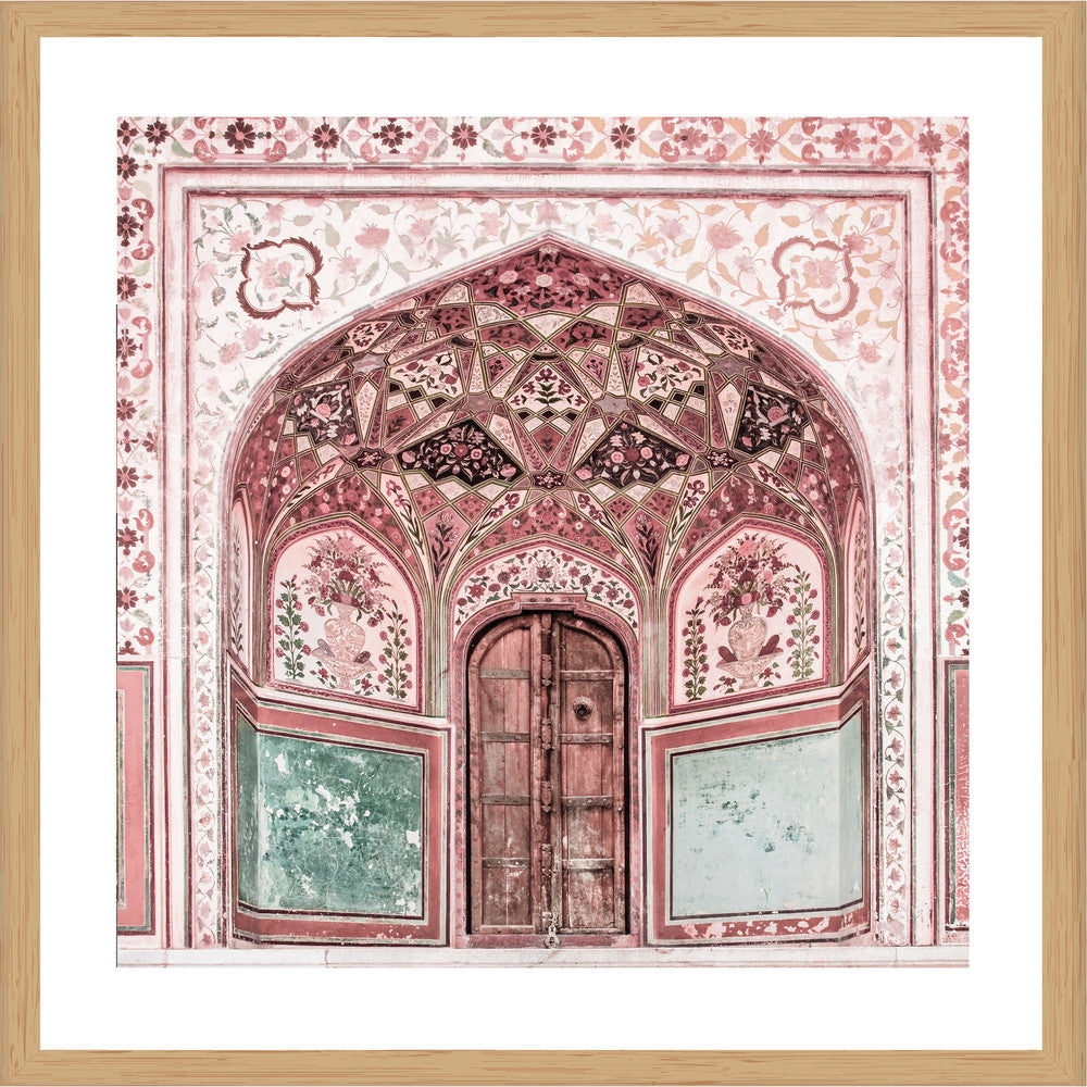Amber Fort Square Photographic Print with Frame, 100cm x 100cm