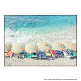Beach Life Canvas Print with Floating Frame