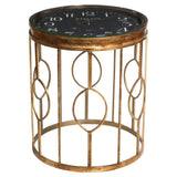 Gold Clock Side Table
