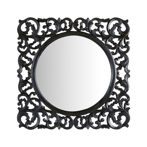 Chatou Lattice Mirror Black