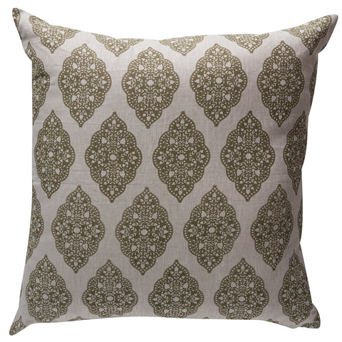 Balveer Glaze Olive Cushion