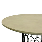 Taylor Concrete Dining Table Grey and Black