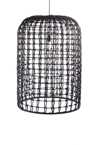 Whitsunday Rattan Pendant Shade Black